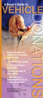 Irs Publishes A Donor S Guide To Car Donation